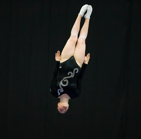 Rhona Robertson, flying high
