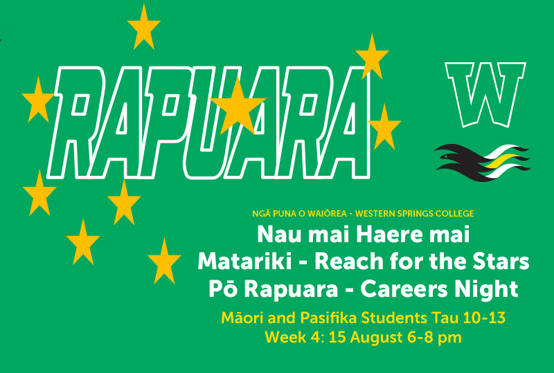 Nau Mai Haere Mai Matariki – Reach For The Stars Pō Rapuara – Careers Night