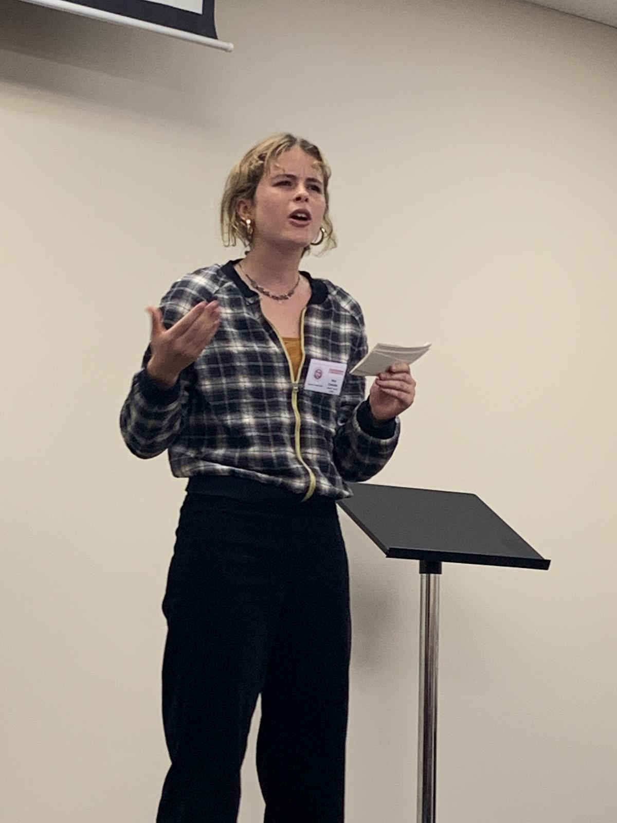 NCW 2nd place speech winner – Isobel Christie