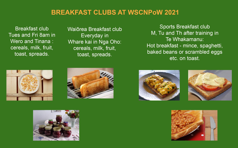 Breakfast Clubs in WSCW 2021
